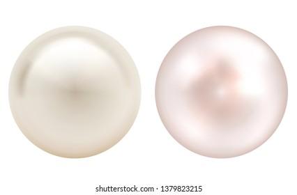 Realistic vector pearls