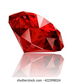 realistic vector ruby gemstone