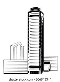 Realistic vector skyscraper
