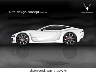 Realistic Vector Sports Car (my Own Design)