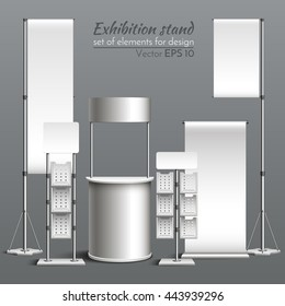 Realistic vector. Template for design. Exhibition stand