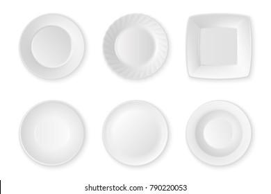White Ceramic Plate Stock Vectors, Images & Vector Art | Shutterstock