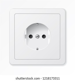 Realistic vector white socket