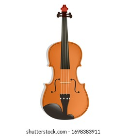 realistic violin isolated on white background, vector_eps10