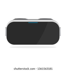 Realistic virtual reality glasses on white background.