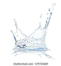 Realistic Water Splash. Vector Illustration.