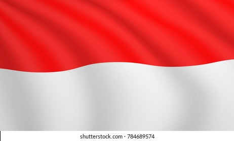 realistic waving flag indonesia current 260nw 784689574