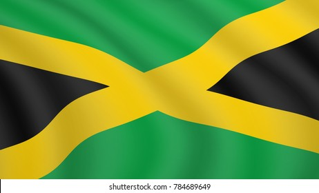 Flag Of Jamaica International Flags All Countries Poster Kingston World Picture