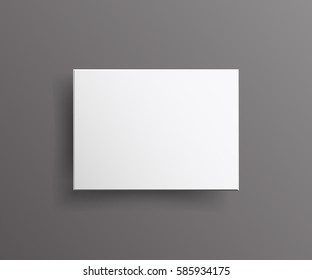 Realistic White  blank Package Cardboard Box Top View isolated. For Software, Electronic device, other products, for your design, logo.  Vector illustration.