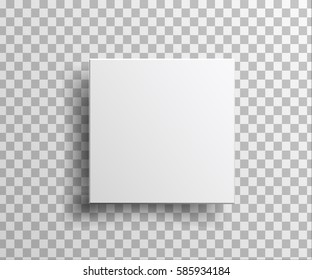 Realistic White blank Package Cardboard Box in front view isolated. For Software, electronic device, other products.  Vector illustration