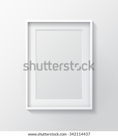 Realistic White Blank Picture Frame Hanging Stock Vector (Royalty ...