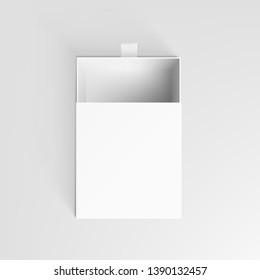 Realistic White Clear Package Cardboard Open Box. EPS10 Vector