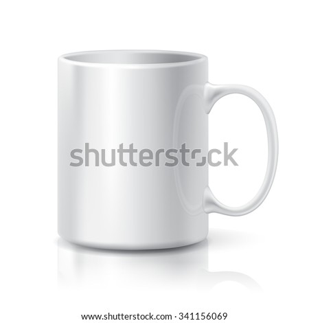 realistic white coffee tea cup isolated stock vector royalty free
