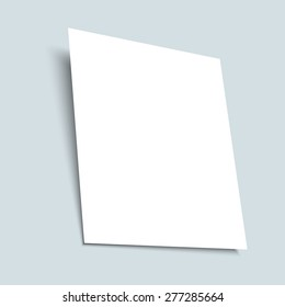 Realistic white empty sheet of paper. Vector EPS 10