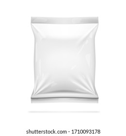 Realistic White Glossy Packaging Isolated On White Background. EPS10 Vector