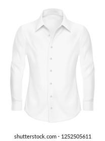 Realistic White Shirt Mockup Vector