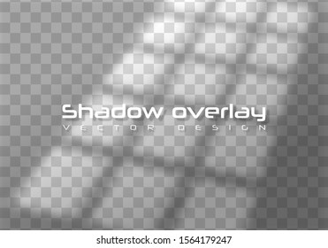 Realistic window light and shadow. Shadows, overlay effects mock up. Photo-realistic Vector illustration. Blank white background for design.