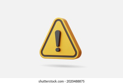 Realistic yellow triangle warning sign vector illustration.