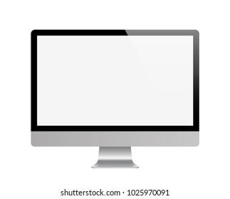 Realistick monitor. Computer. Stock vector