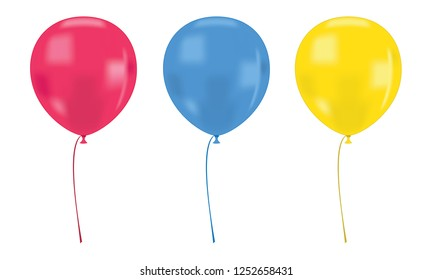 Realistics balloon isolated on a white background