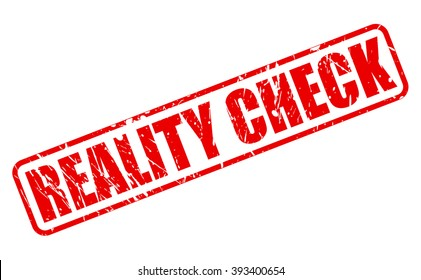 REALITY CHECK red stamp text on white