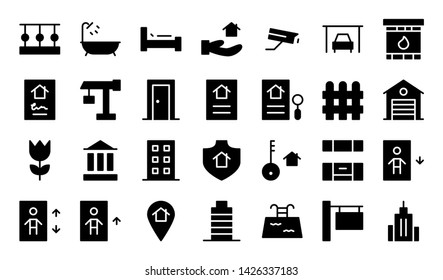 reality glyph icon symbol set