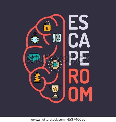 reallife room escape quest game poster のベクター画像素材