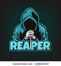 reaper esport logo, gaming logo illustration