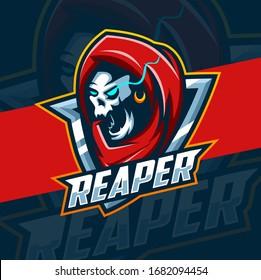 reaper mascot esport logo design