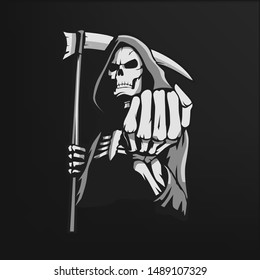 Reaper T Shirt Graphic Design Stock Vector, eps 10 (Royalty Free)