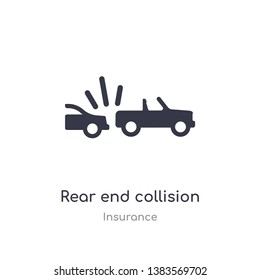 rear end collision icon. isolated rear end collision icon vector illustration from insurance collection. editable sing symbol can be use for web site and mobile app