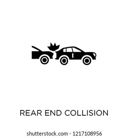 Rear end collision icon. Rear end collision symbol design from Insurance collection.