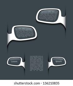 Rear view mirror banner - vector illustration