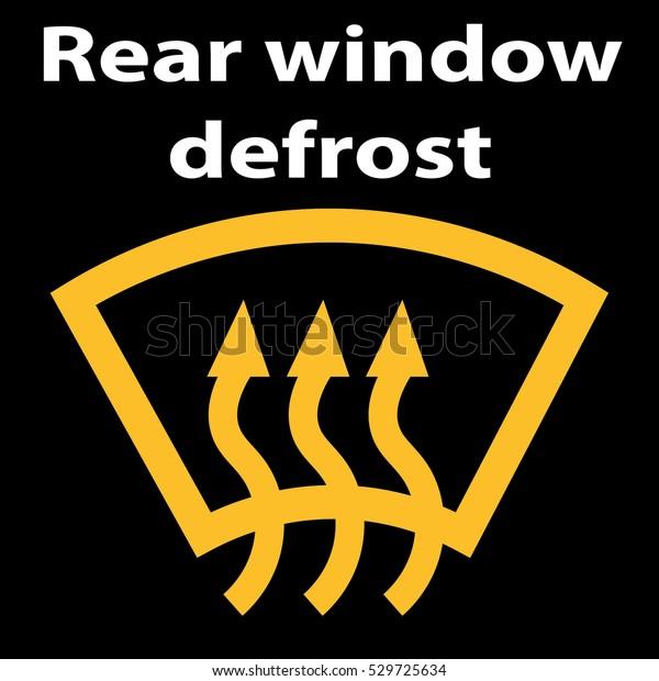 Rear Window Car Defrost Button Symbol Stock Vector Royalty Free 529725634