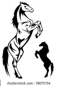 rearing horse vector
