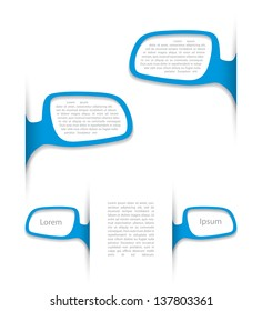 Rearview mirror text boxes - vector illustration
