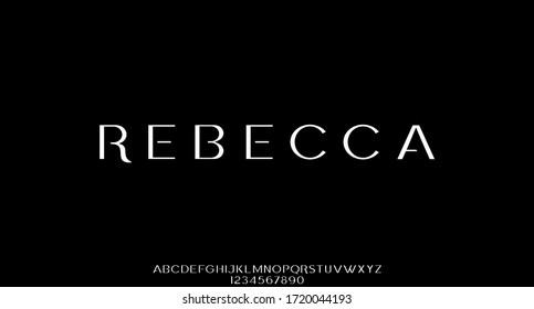 rebecca, the luxury font vector alphabet collection - Shutterstock ID 1720044193