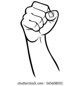 Rebel Fist Illustration