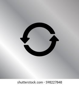 Reboot icon, repeat vector illustration