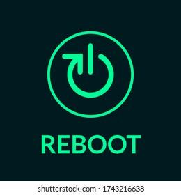 Reboot or restart logo icon and symbol