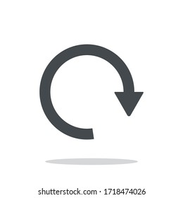 Reboot sign long arrow icon refresh . Rotation , reset , repeat . Vector Illustration.