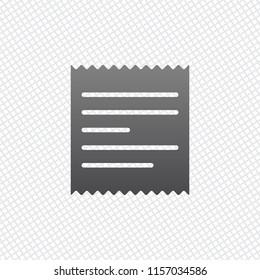 Receipt icon. On grid background