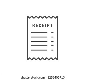 Receipt icon. vector paper receipt.