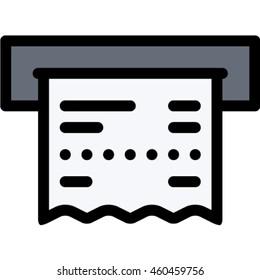 receipt vector icon stock vector royalty free 640307506 shutterstock
