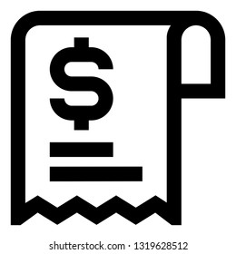 Receipt Sales Slip Icon