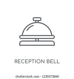 Reception bell linear icon. Modern outline Reception bell logo concept on white background from Hotel and Restaurant collection. Suitable for use on web apps, mobile apps and print media.