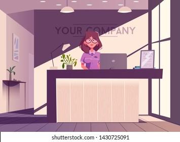 Cartoon Receptionist Images Stock Photos Vectors Shutterstock
