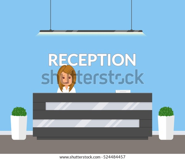 Reception Modern Office Business Office Clinic Stock Vector (Royalty