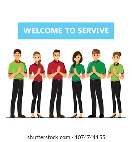 Receptionist .Business people Welcome concept cartoon illustration