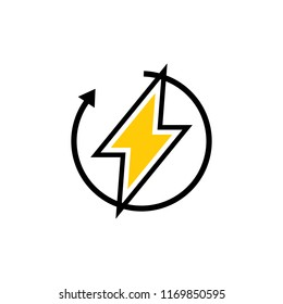 recharging logo icon Template vector icon illustration design